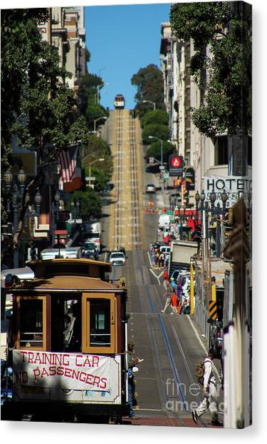 San Francisco Cable Cars Canvas Print