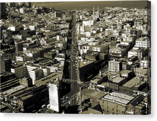 Sightseeing Canvas Print - Old San Francisco - Vintage Photo Art Print by Peter Potter