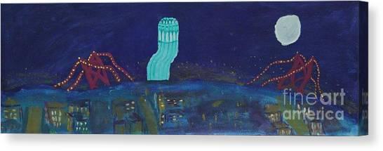 San Francisco Coit Tower Abstract Canvas Print