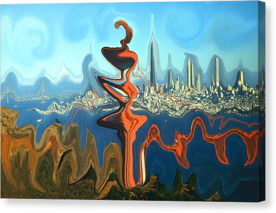San Francisco Earthquake - Modern Artwork Canvas Print