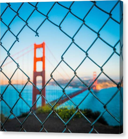 Love Canvas Print - San Francisco Golden Gate Bridge by Cory Dewald