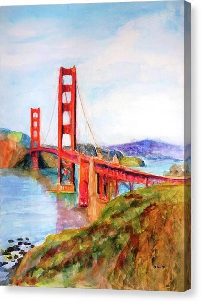 San Francisco Golden Gate Bridge Impressionism Canvas Print