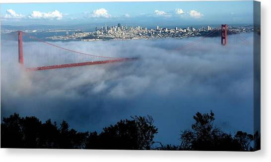 San Francisco Golden Gate Bridge Panoramic  Canvas Print