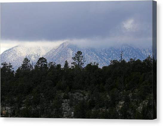San Francisco Mountains From Walnut Canyon Canvas Print