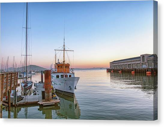 San Francisco - Pier 39 Canvas Print