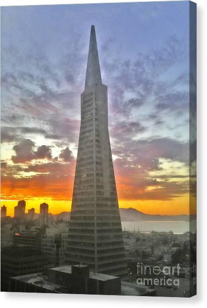 San Francisco Pyramid Canvas Print