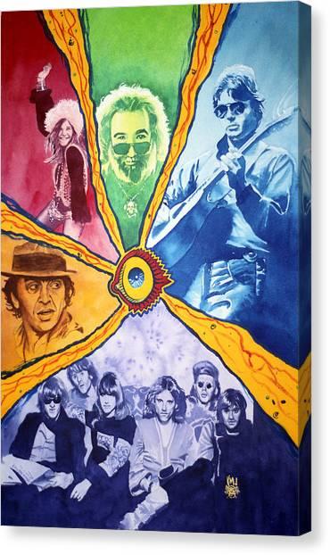 Janis Joplin Canvas Print - San Francisco Rock by Ken Meyer
