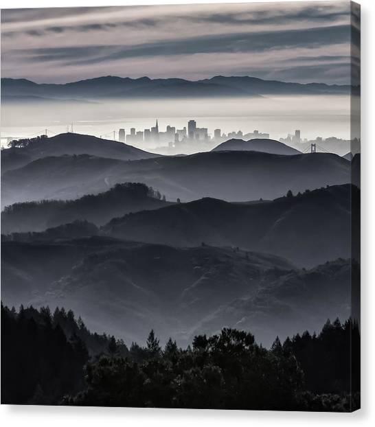 San Francisco Seen From Mt. Tamalpais Canvas Print