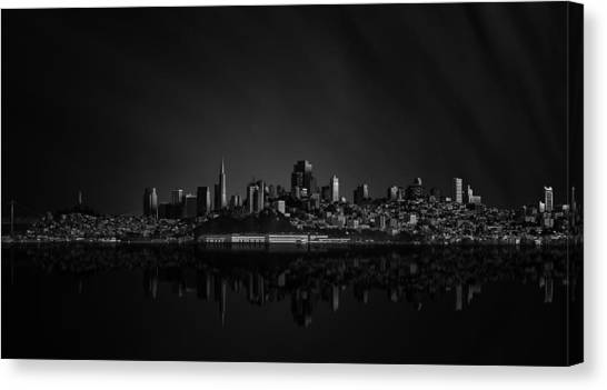 Modern Architecture Canvas Print - San Francisco Space IIi by Juan Pablo De