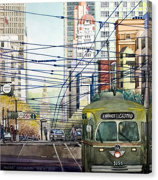 San Francisco Spaghetti Above Market Street Canvas Print
