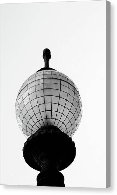 Post-modern Art Canvas Print - San Francisco Street Light- By Linda Woods by Linda Woods