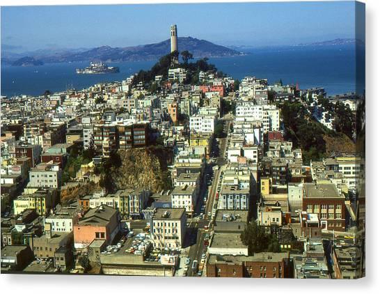 San Francisco - Telegraph Hill And Alcatraz Canvas Print
