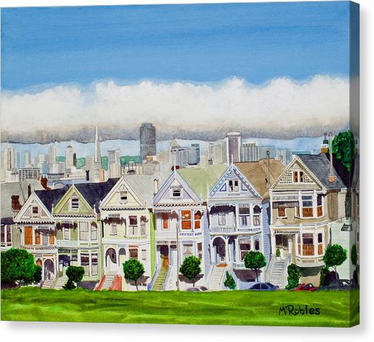 San Francisco's Painted Ladies Canvas Print