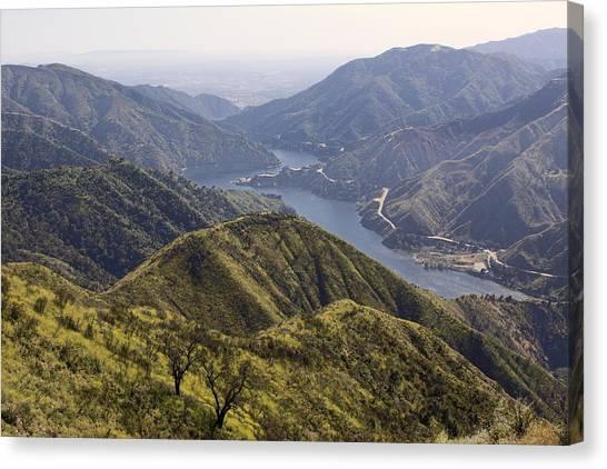 San Gabriel Canyon Reservoir Canvas Print