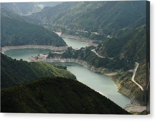 San Gabriel Dam Canvas Print