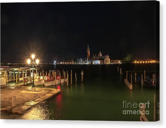 San Giorgio Maggiori At Night Canvas Print