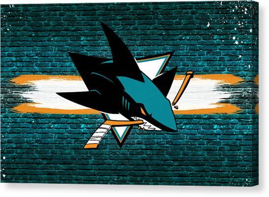San Jose Sharks Canvas Print - San Jose Sharks Artwork by Nicholas Legault