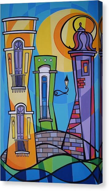 Puerto Canvas Print - San Juan Alegre-1 by Mary Tere Perez