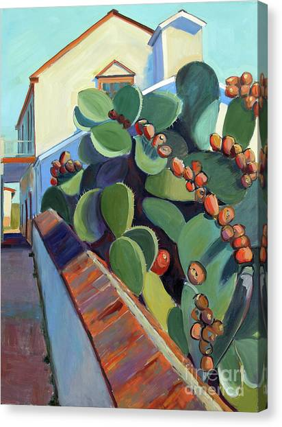 San Juan Bautista Prickly Pear Canvas Print