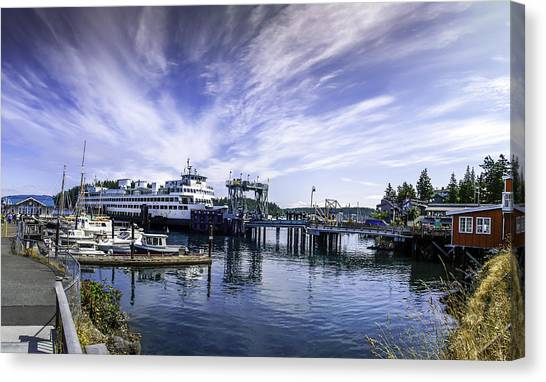 San Juan Island Ferry Canvas Print