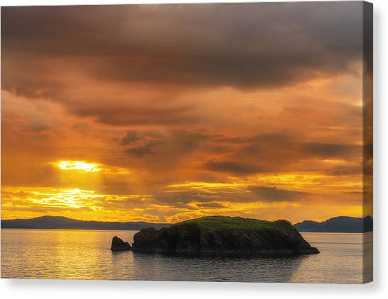 San Juan Islands Golden Hour Canvas Print