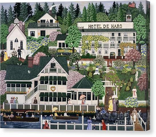San Juan Roche Harbor Resort Canvas Print