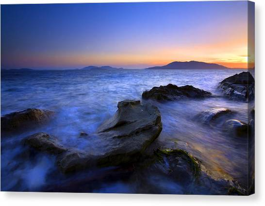 Washington Canvas Print - San Juan Sunset by Mike  Dawson
