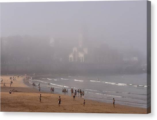 Misty Beach Canvas Print
