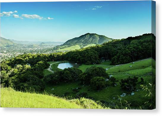 Cal Poly Canvas Print - San Luis Obispo by Kevin Medici