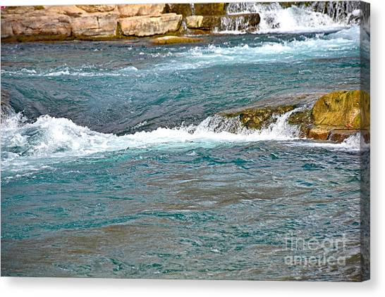 Sun Belt Canvas Print - San Marcos River Rapids Texas by Ray Shrewsberry