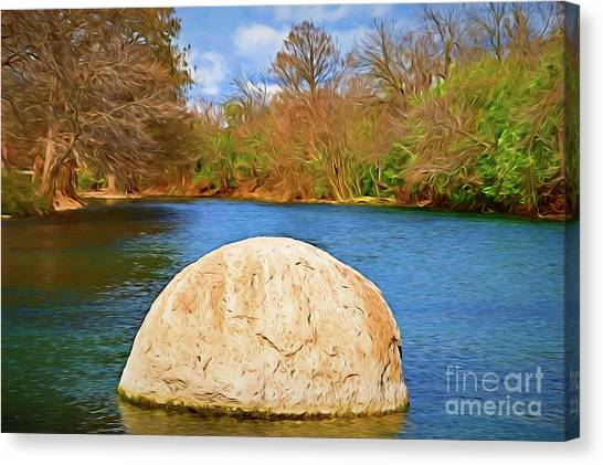 Sun Belt Canvas Print - San Marcos River Texas 156 by Ray Shrewsberry