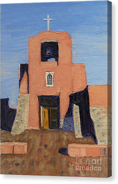 San Miguel Mission In Santa Fe Canvas Print
