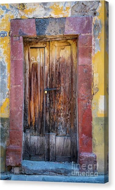 Guanajuato Canvas Print - San Miguel Old Door by Inge Johnsson