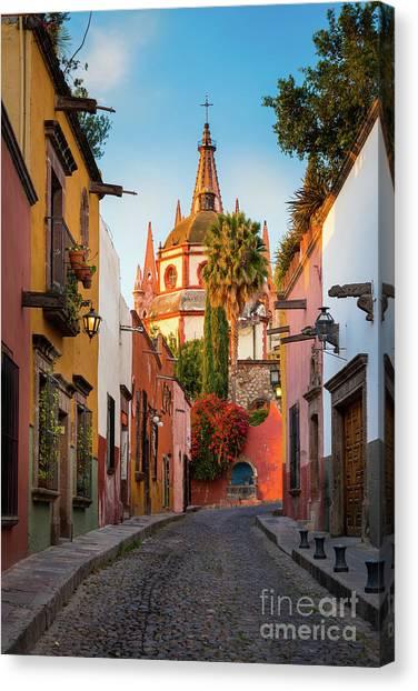 Guanajuato Canvas Print - San Miguel Pueblo Magico by Inge Johnsson