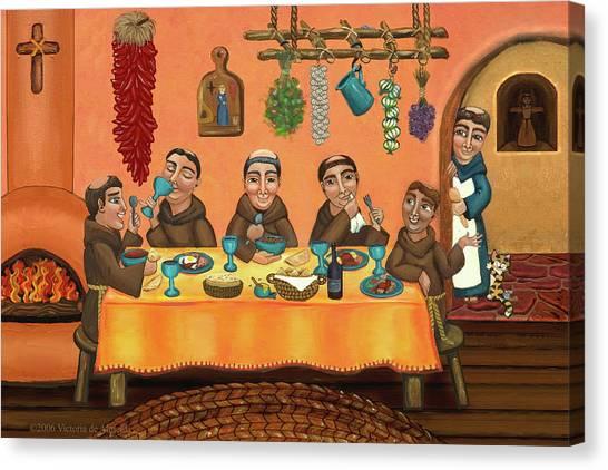 Priests Canvas Print - San Pascuals Table 2 by Victoria De Almeida