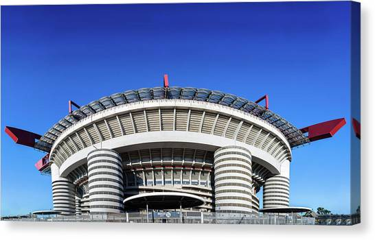Serie A Canvas Print - San Siro Football Stadium - Milan, Lombardy, Italy by Alexandre Rotenberg