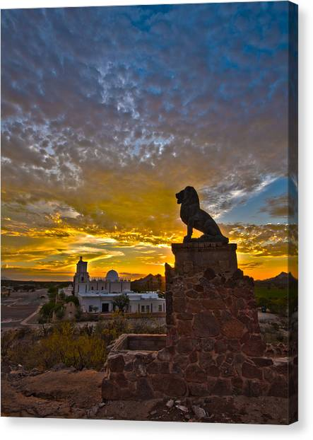 San Xavier Guardian Canvas Print