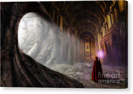 Caverns Canvas Print - Sanctum by John Edwards
