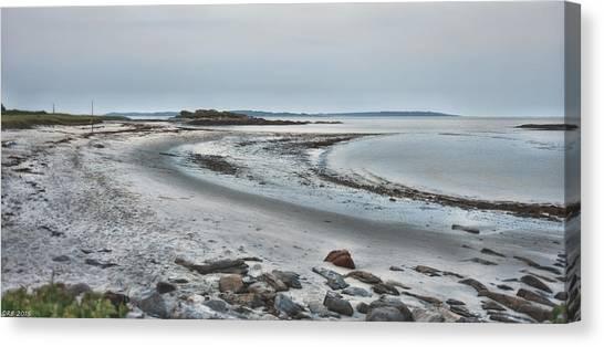 Sand Along The Shoreline Canvas Print