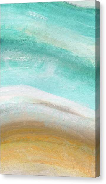 Soothing Canvas Print - Sand And Saltwater- Abstract Art By Linda Woods by Linda Woods