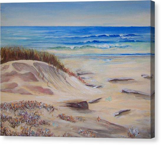 Sand And Sea Canvas Print