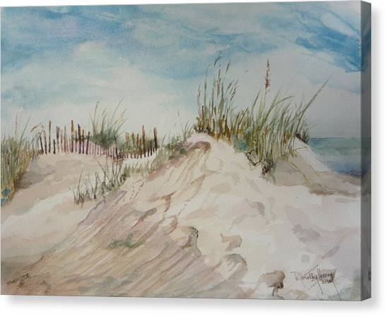 Sand And Sky Canvas Print by Dorothy Herron