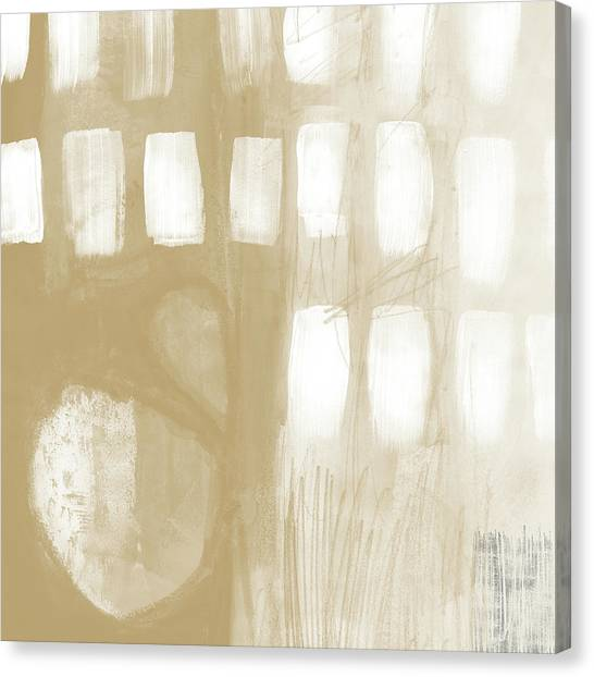 Ashes Canvas Print - Sand And Stone 4- Contemporary Abstract Art By Linda Woods by Linda Woods