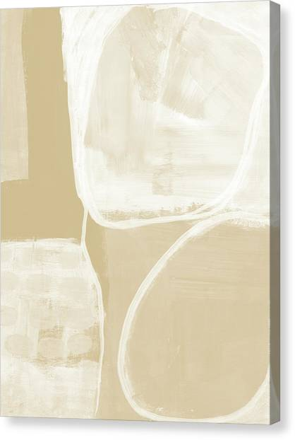 Camels Canvas Print - Sand And Stone 5- Contemporary Abstract Art By Linda Woods by Linda Woods