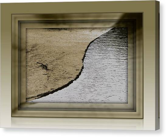 Sand And Water Canvas Print by Dottie Dees