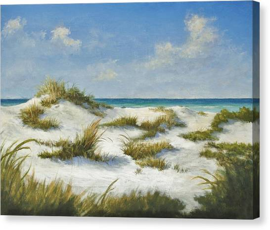Sand Dunes Morning By Alan Zawacki Canvas Print
