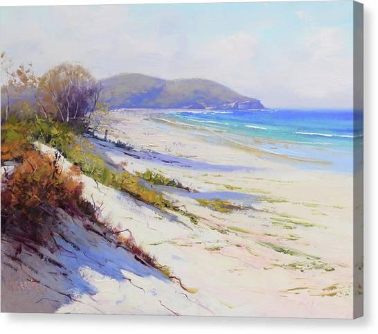 Impressionist Beach Canvas Print - Sand Dunes Port Stephens Nsw by Graham Gercken