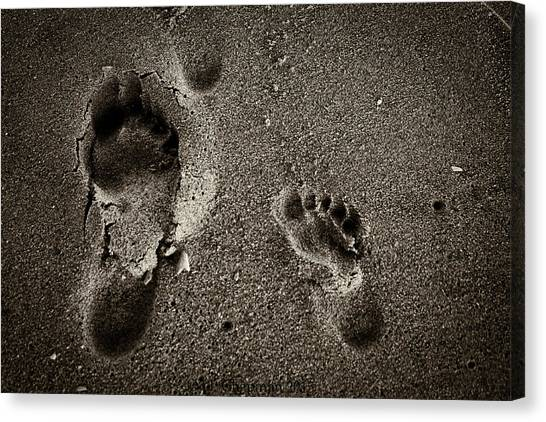 Sand Feet Canvas Print