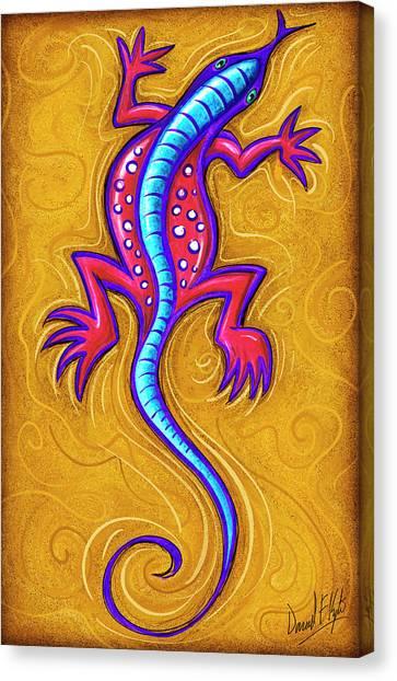 Lizards Canvas Print - Sand Lizard by David Kyte