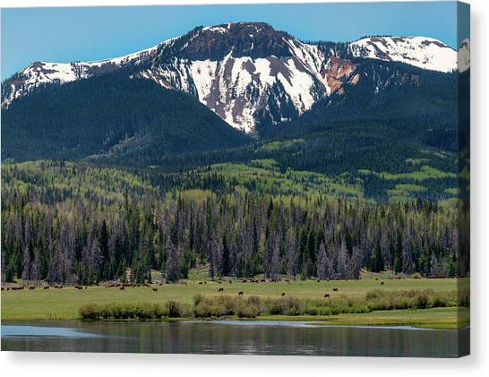 Sand Mountain From Steamboat Lake Canvas Print